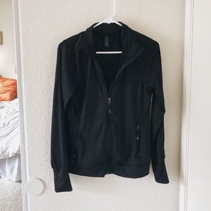 ♠️ Black Polyester Running Jacket ♠️